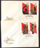 DDR.1975 . DOS SOBRES  FDC.  YVERT Nº 1719/1722. 30º ANIVERSARIO DE LA LIBERACION   CECI 3 Nº 232 - [6] République Démocratique