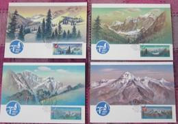 UdSSR CCCP Sowjetunion 1987 - Bergsteigerlager Des Sportkomitees Der UdSSR - MiNr 5685-5688 MK - Bergsteigen