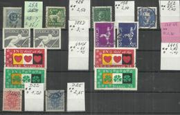 """Schweden Kl. Lot Mit 14 Briefmarken Aus 1872-1953 Und 1967-1970 """" Gestempelt Mi. 34,00; - Sweden"""