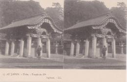 Cpa Précurseur Stéréo - Au Japon - Tokio - Temple Du IVè (Tokyo) - Tokyo