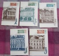 UdSSR CCCP Sowjetunion 1986 - Leningrader Museen - MiNr 5671-5675 MK - Schlösser U. Burgen