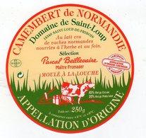 Juil18  14092 A    étiquette Camembert  Domaine De St Loup - Cheese