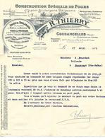 Facture Lettre 1933 / MEUSE / COUSANCELLES / R. THIERRY / Construction De Fours Pour Boulangerie Pâtisserie - France