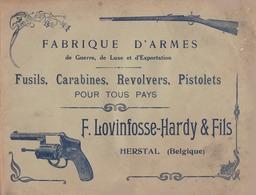 Herstal Lovinfosse Hardy Fabrique D' Armes Fusils Carabines Révolvers Pistolets Catalogue Publicitaire - Werbung