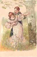 Thèmes - Publicité - Chocolat Oudaille-Lucas - Couple - Forêt - Reflets Dorés - Publicité