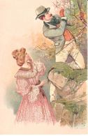 Thèmes - Publicité - Chocolat Oudaille-Lucas - Couple - Forêt - Reflets Dorés - Advertising