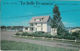 """Beaumont Québec - Motel Hotel Cabines """"La Belle Françoise"""" - Written In 1968  - 2 Scans - Quebec"""