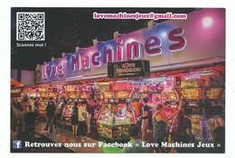 CPM Fête Foraine - Love Machines Jeux De Pièces - Dos Publicitaire Imprimé Carte Flyer Gros Gramage - Werbepostkarten