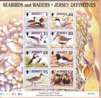 JERSEY 1997 FOGLIETTO 8 Francobolli Con TEMATICA : UCCELLI MARINI. - Jersey