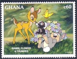 450 Ghana Disney Movie Bambi Rabbit Lapin Mouffette Skunks Putois Sconce MNH ** Neuf SC (GHA-114b) - Konijnen