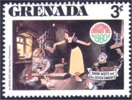 460 Grenada Disney Blanche-Neige Snow White Lapins Rabbits Hares Hase Hases Hasen MNH ** Neuf SC (GRE-107b) - Konijnen
