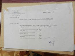 7a) 1964 ITALIA NAVIGAZIONE GENOVA MOTO NAVE GIULIO CESARE PROMEMORIA GESTIONE VIVERI  DIMENSIONI 22 X 14,5 Cm - Boats