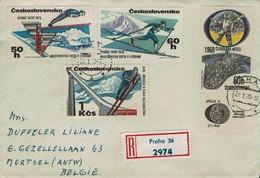 Tschechoslowakei Czechoslovakia 1970 - Skiweltmeisterschaften, Hohe Tatra / Brief - Ski
