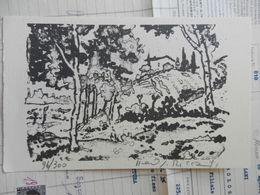 7) PIERO RICCA PAESAGGIO TOSCANO LITOGRAFIA 96/300 19 X 12 Cm FIRMATA - Litografia