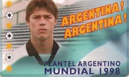 TARJETA TELEFONICA DE ARGENTINA (FUTBOL, PLANTEL ARGENTINO MUNDIAL 98, ALMEYDA) (382) - Argentina