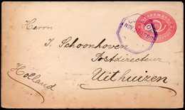 Guatemala To Netherlands Postal Stationery 1896 - Guatemala