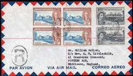 British Montserrat To England Registered Airmail Cover 1955 - Montserrat