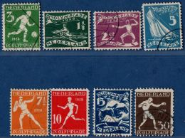 Netherlands 1928 Olympic Games Series 8 Val. Canc. Canoe Fencing Football Ssailing Shot-put Athletics Boxing Equiestrian - Summer 1928: Amsterdam