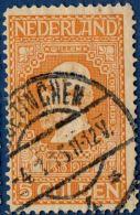 Nederland 1913 5 Gld  Perf 11½ Cancelled Doetinchem -  King Willem II - Period 1891-1948 (Wilhelmina)