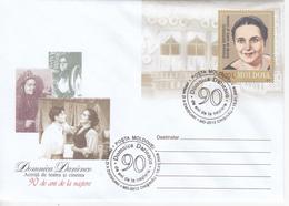 MOLDOVA   MOLDAVIA   MOLDAWIEN   MOLDAU   2009 , Pre-paid Envelope , D. Darienco -Theater And Cinema Actress - Moldova