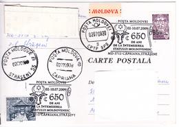 MOLDOVA  MOLDAVIE   MOLDAU 2009 ,  650 Years-Moldovan State , Coat Of Arms , Capriana , Straseni ,Speciall Cancell. - Moldova