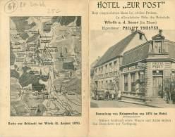 67 .N°39202 . Hotel Zur Post.worth A D Sauer.carte Double - France