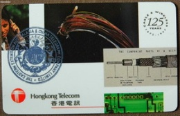 Hong Kong - HKT, Hello, 125 Years C&W, 1872-1997, 25 HK$, 11.000ex, Exp 30/6/98, Mint Unused - Hong Kong