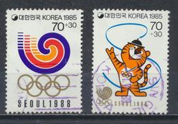 °°° SOUTH KOREA COREA - Y&T N°1263/64 - 1985 °°° - Corea Del Sud