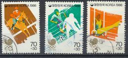 °°° SOUTH KOREA COREA - Y&T N°1297/99/300 - 1986 °°° - Corea Del Sud