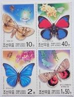 2002 North Korea Stamps Butterfly 4v - Korea, North