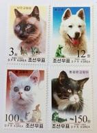 2002 North Korea Stamps Cat And Dog 4v - Korea, North