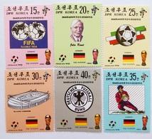 1990 North Korea Stamps World Cup 6v - Coppa Del Mondo