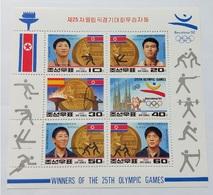1992 North Korea Stamps Barcelona Olympic Games North Korea Gold Winner - Korea, North