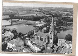 DEPT 33 - En AVION Au Dessus De... LANGON  - Le Pont L'Eglise  - SAL**  - - Langon