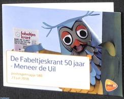 Netherlands 2018 Fabeltjeskrant, Presentation Pack 580, (Mint NH), Children's Books Illustrations - Owls - Radio And Tel - Nuevos