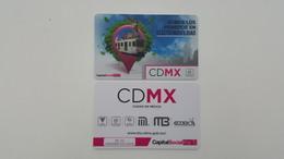MEXICO - METRO - RECHARGEABLE CARD - CDMX - Abonos