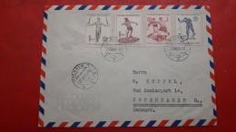 Checoslovaquia Enveloppe Circulé Avec Timbres Déporte 1951 - Postzegels