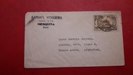 Le Brésil Enveloppe Circulé 1953 - Lettres & Documents