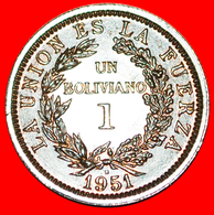 # GREAT BRITAIN: BOLIVIA ★ 1 CENTAVO 1951H UNC! LOW START ★ NO RESERVE! - Bolivia