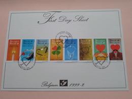 1999 - 2 / First Day Sheet  Gelegenheidsuitgiften - Voeux De Circonstance ( Zie/voir Foto's Voor Details ) ! - FDC