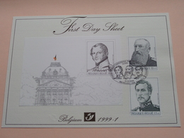 1999 - 1 / First Day Sheet  Gelegenheidsuitgiften - Voeux De Circonstance ( Zie/voir Foto's Voor Details ) ! - FDC