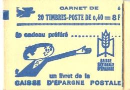 JOLI CARNET DE 20 TIMBRES DE 0.40 FRANCS LIVRET DE LA CAISSE D'EPARGNE POSTALE COMPLET BON ETAT - Carnets