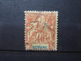 """VEND TIMBRE DE GUYANE N° 39 , CACHET """" CAYENNE """" !!! - Französisch-Guayana (1886-1949)"""