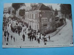 91 - Orsay - Carte Photo - Fête Du Couronnement De La Rosière - Le Cortège Se Rendant à La Mairie - La Fanfare - Orsay
