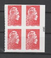 FRANCE / 2018 / Y&T N° AA 1599A ** : Marianne D'YZ (du Carnet Nouvelle Marianne Guichets) TVP LP X 4 En Bloc - Adhesive Stamps