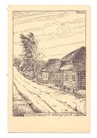BELARUS / WEISSRUSSLAND - WOSGILJANE, Dorfstrasse, 1916, 1.Weltkrieg, Soldatenzeichnung - Belarus
