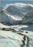 Davos - Schlittenfahrt Beim Sertig-Dörfli - Blick Auf Plattenflue Und Hoch-Ducan - Photo: Furter - GR Grisons