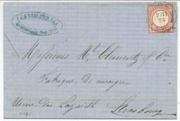 H535 - BITSCHWEILER BEI THANN Pour Strasbourg - 1874 - Tarif 1 Groschen - BITSCHWILLER Haut Rhin Alsace - - Alsace Lorraine