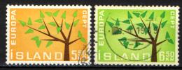 ISLANDA - 1962 - EUROPA UNITA - CEPT - USATI - 1944-... Republik