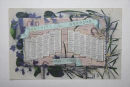 Calendrier - Souhaits De Bonheur Pour 1910 - Petit Format : 1901-20